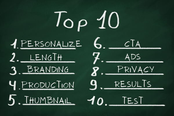 Top 10 Things Video Sales